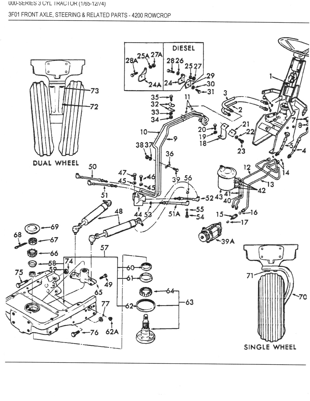 4200002 4200 power steering overflowing yesterday's tractors ford 5000 tractor parts diagram at n-0.co